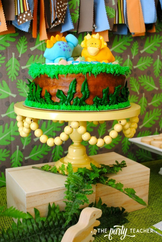 Dinosaur Baby Shower by The Party Teacher - dinosaur cake