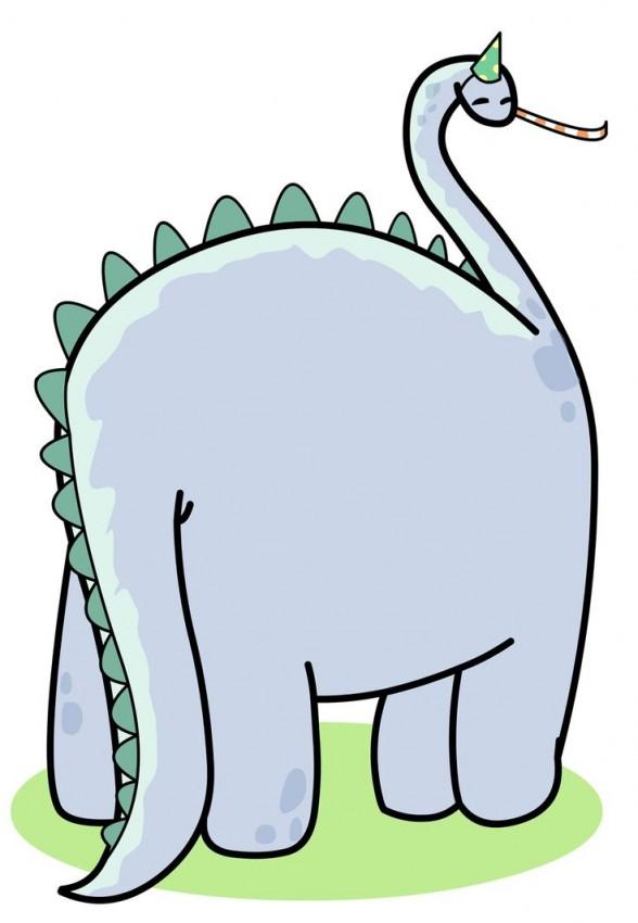 FF Greetings Island Dinosaur