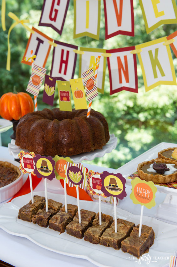 Bright and Colorful Thanksgiving Children's Table by The Party Teacher-103