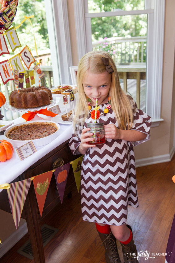 Bright and Colorful Thanksgiving Children's Table by The Party Teacher-131