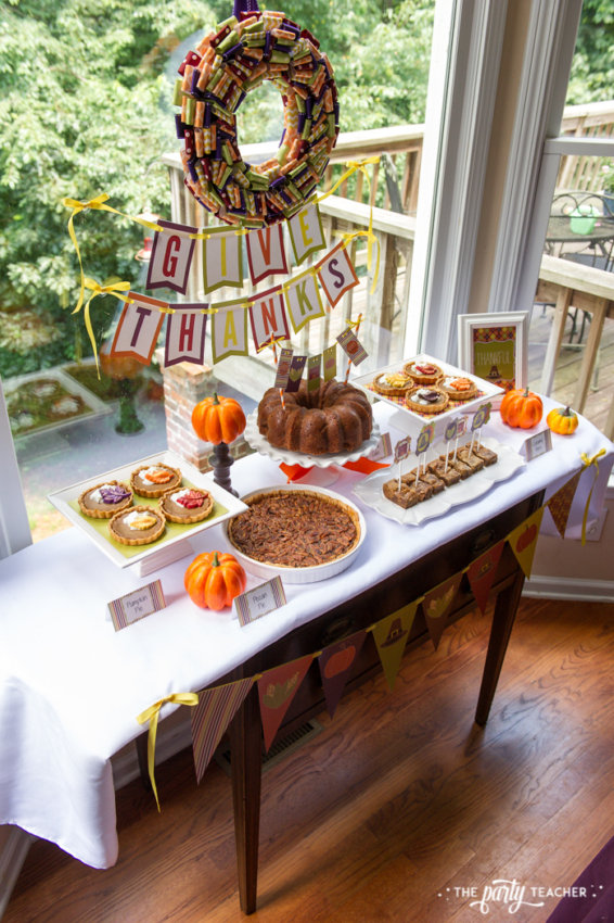 Bright and Colorful Thanksgiving Children's Table by The Party Teacher-36