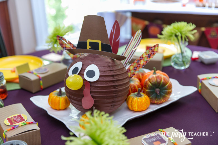 Bright and Colorful Thanksgiving Children's Table by The Party Teacher-39