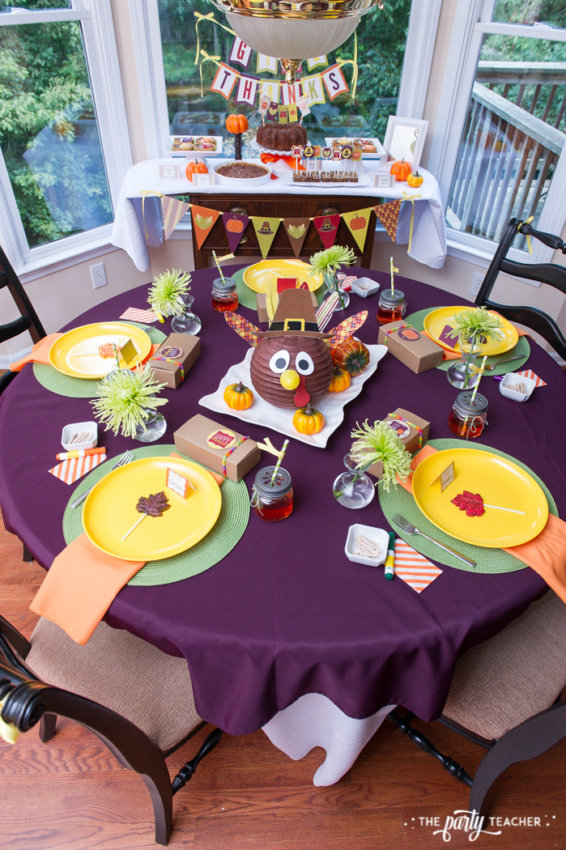 Bright and Colorful Thanksgiving Children's Table by The Party Teacher-55