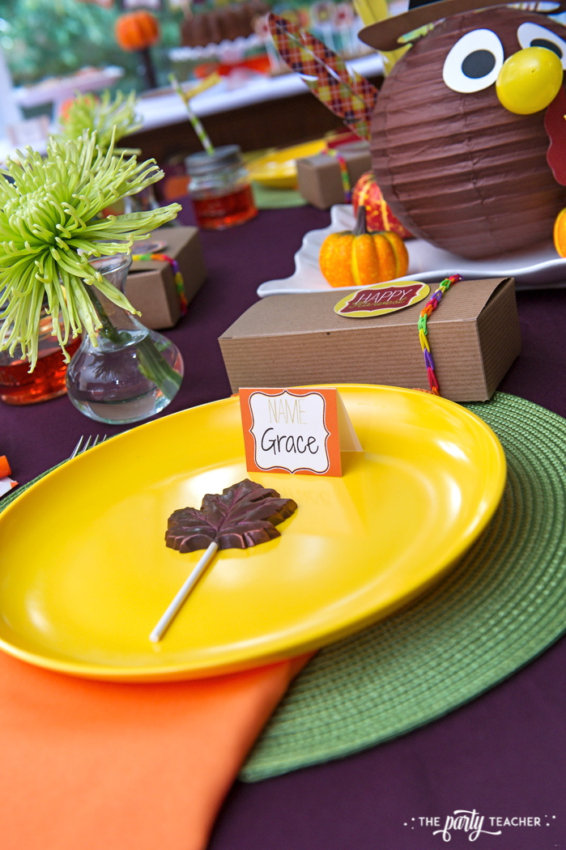 Bright and Colorful Thanksgiving Children's Table by The Party Teacher-56