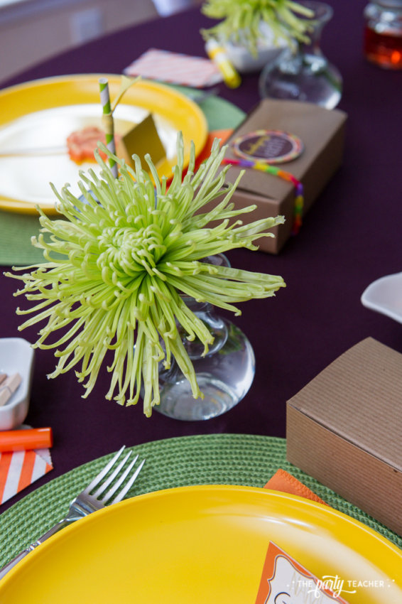 Bright and Colorful Thanksgiving Children's Table by The Party Teacher-58