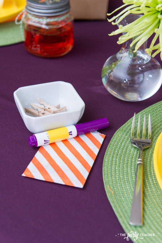 Bright and Colorful Thanksgiving Children's Table by The Party Teacher-60