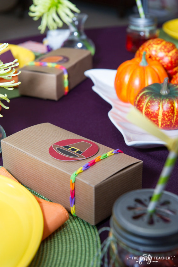 Bright and Colorful Thanksgiving Children's Table by The Party Teacher-62
