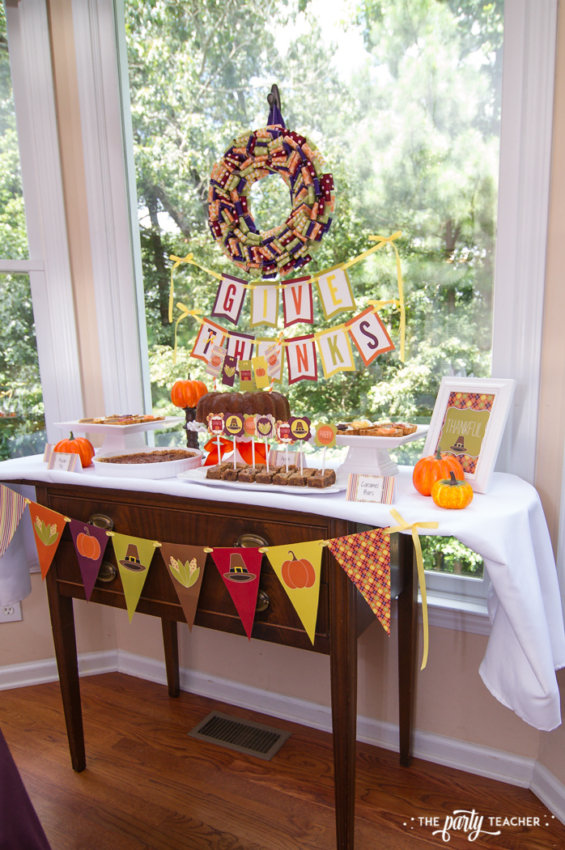 Bright and Colorful Thanksgiving Children's Table by The Party Teacher-77