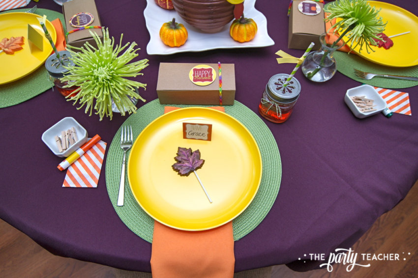 Bright and Colorful Thanksgiving Children's Table by The Party Teacher-79