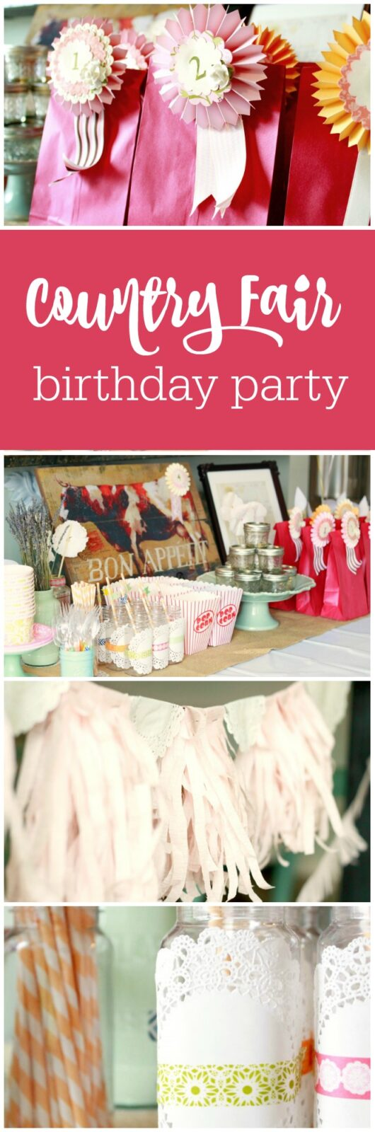 Country Fair 9th Birthday Day By The Crafty Woman Featured On Party Teacher