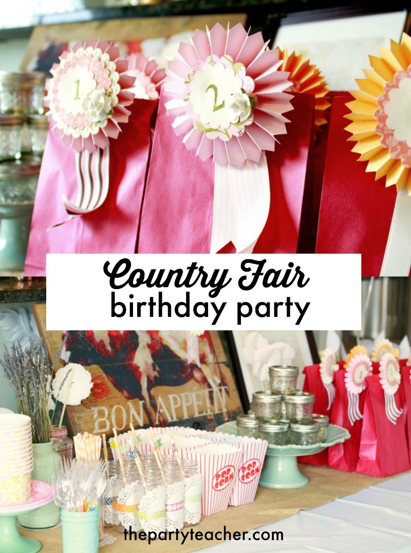 Country Fair Birthday Party By The Crafty Woman Featured On The