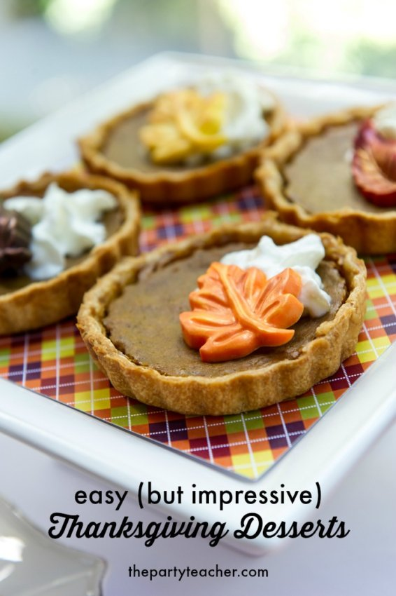 Easy but impressive Thanksgiving desserts by The Party Teacher