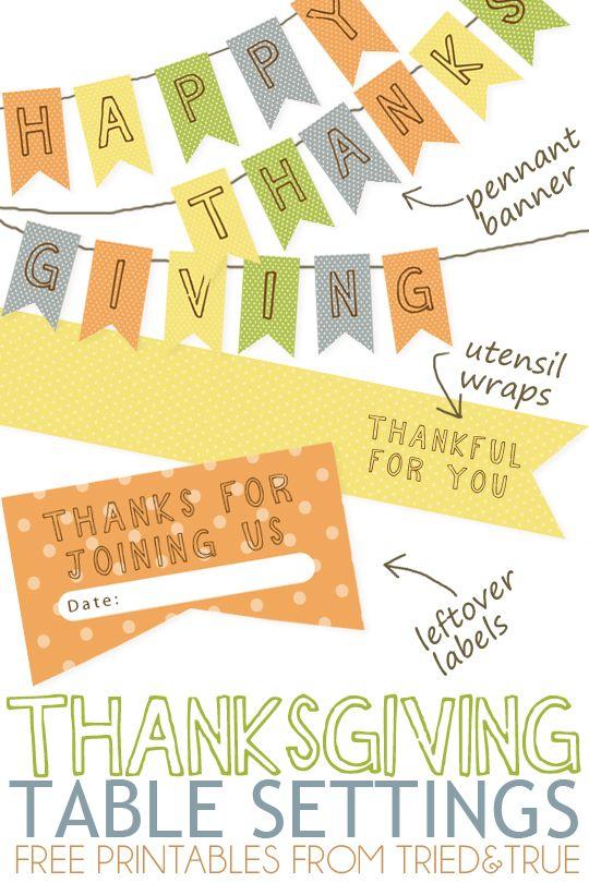 FF Tried & True Thanksgiving