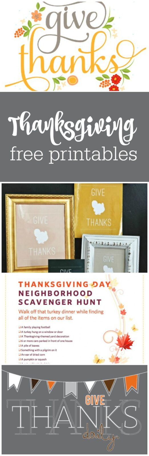 Free Thanksgiving printables curated by The Party Teacher
