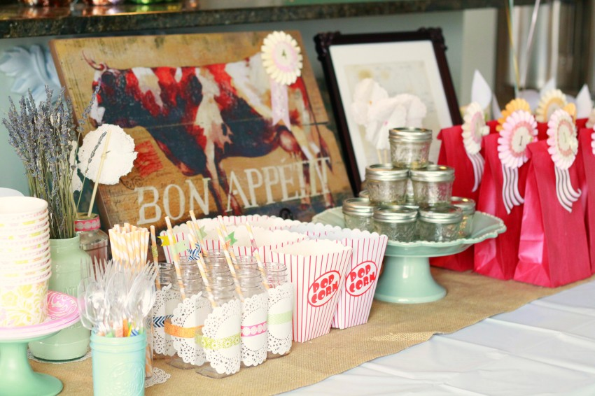 Country Fair Birthday Party by The Crafty Woman featured on The Party Teacher - party table 2