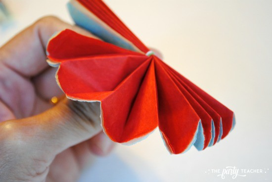 Mexican Tissue Flower Tutorial by The Party Teacher - 6