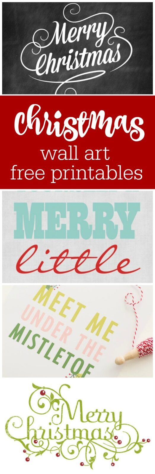 Christmas wall art free printables curated by The Party Teacher