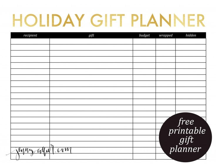 FF Christmas Planner Jenny Collier