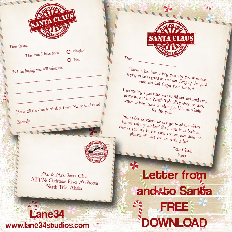 image about Free Printable Letters From Santa North Pole identified as Xmas Freebies: Letters In opposition to Santa Printables