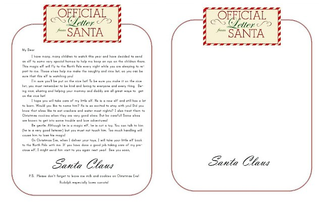 FF Letter from Santa Lily and Thistle