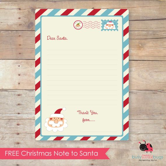 FF Letter to Santa Busy Little Bugs
