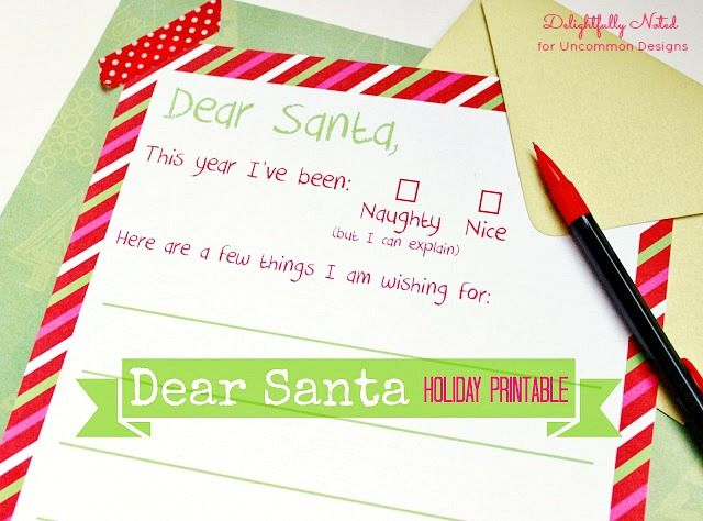 FF Letter to Santa Delightfully Noted via Uncommon Designs