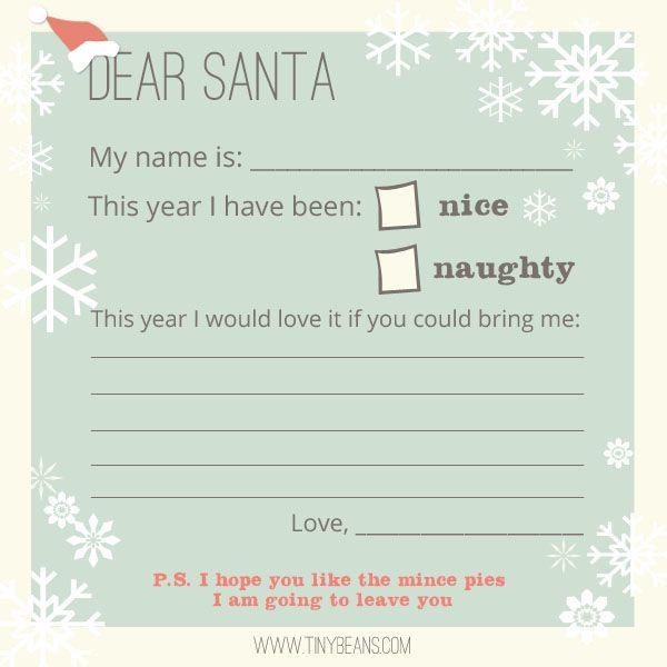 FF Letter to Santa TinyBeans