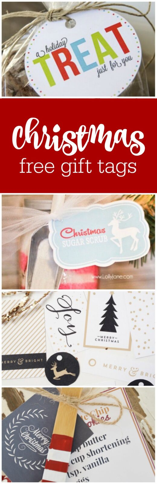 free Christmas gift tags curated by The Party Teacher