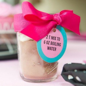 Recipe: Pink Pig Hot Cocoa Mix in a Mason Jar