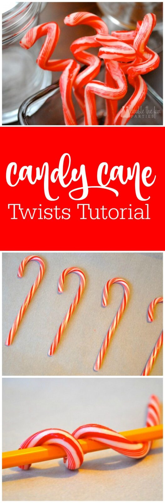 Candy Cane Twists Tutorial by The Party Teacher