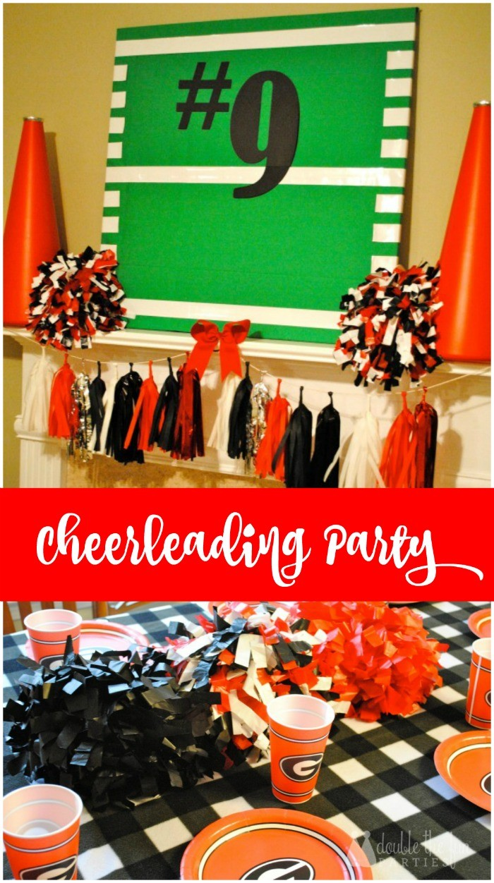 Cheerleading Party on a budget by The Party Teacher