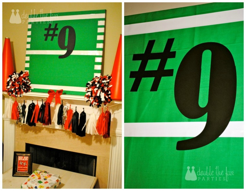DFP Cheer Party Football Backdrop WM
