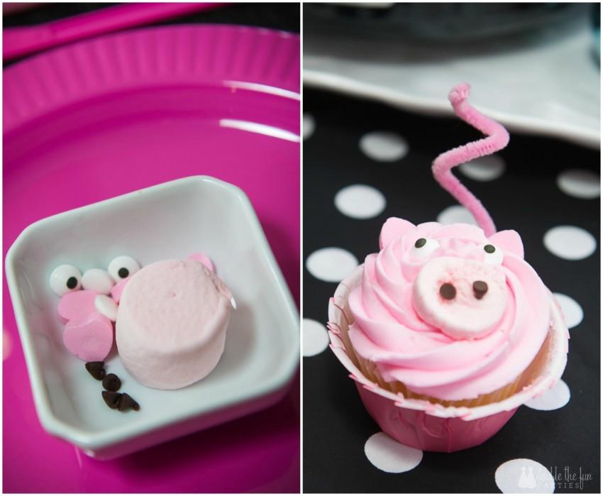 DFP Pink Pig Cupcake Collage