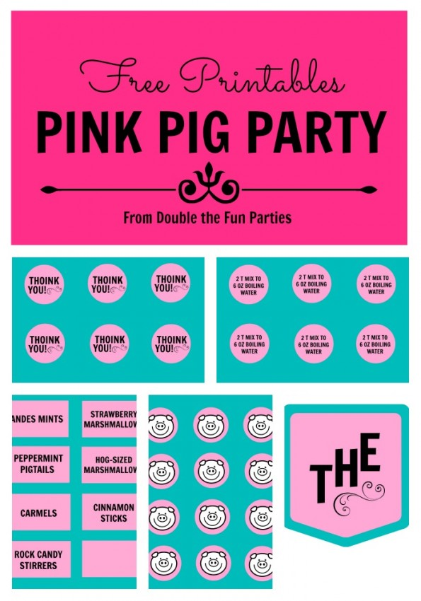 DFP Pink Pig Party Free Printables