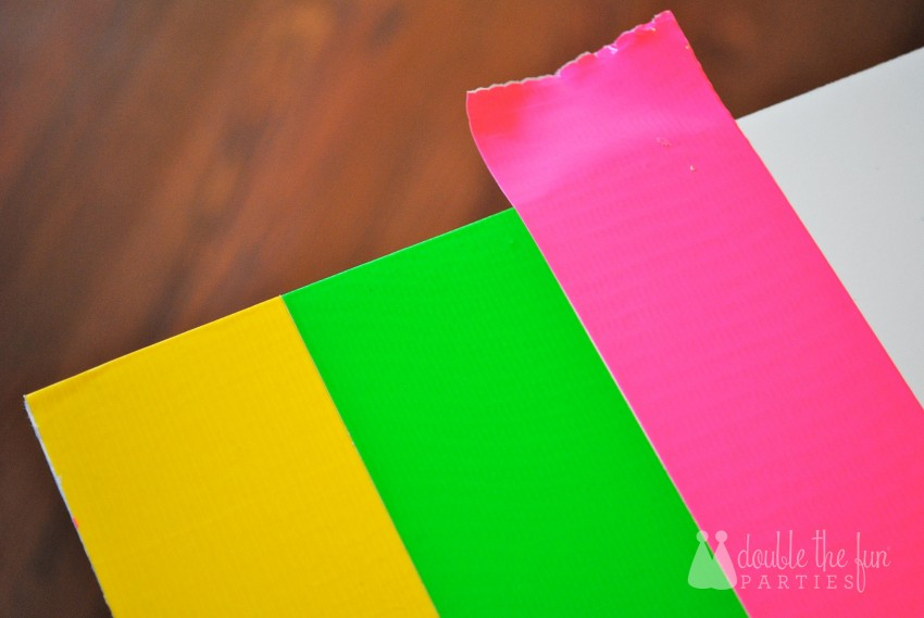 Neon Party Duck Tape Backdrop by Double the Fun Parties 0104