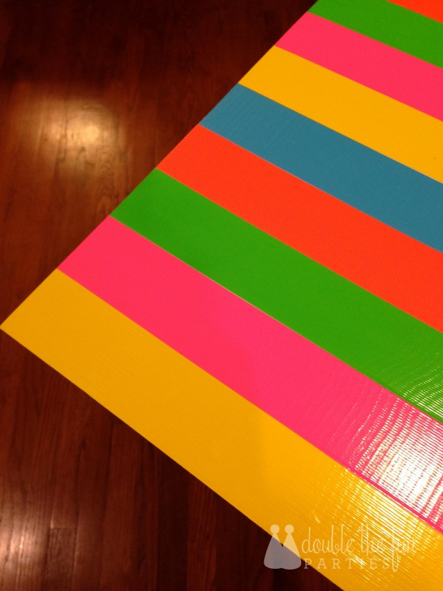 Neon Party Duck Tape Backdrop by Double the Fun Parties 1581