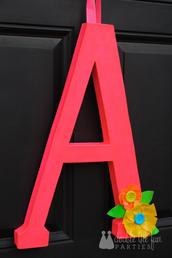 Neon Party Front Door Decoration by Double the Fun Parties 8