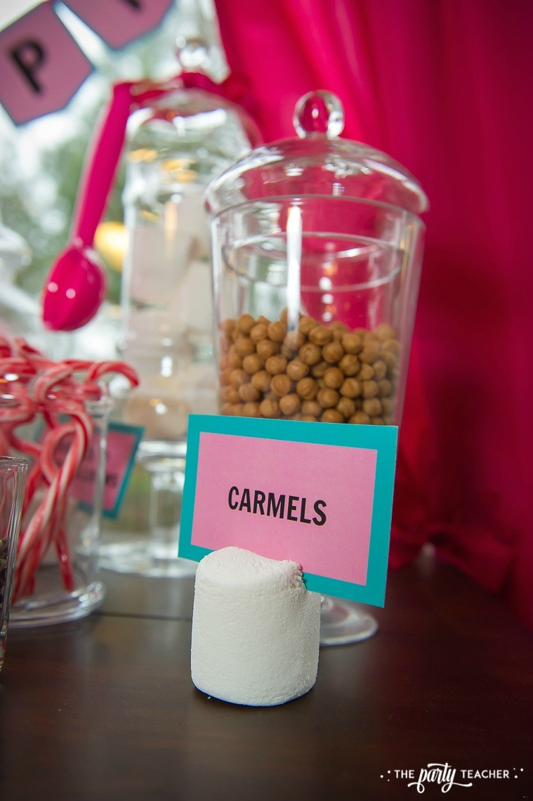 Pink Pig Hot Cocoa Party by The Party Teacher-caramel balls
