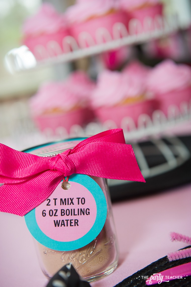 Pink Pig Hot Cocoa Party by The Party Teacher-cocoa mix party favor