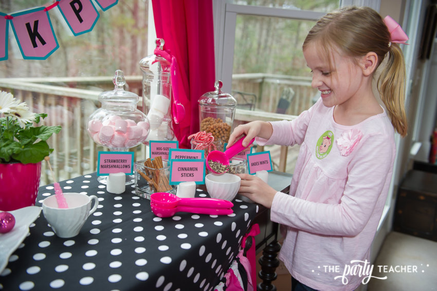 Pink Pig Hot Cocoa Party by The Party Teacher-cocoa mix-ins