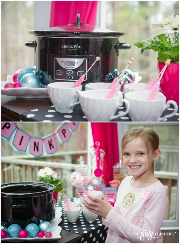 Pink Pig Hot Cocoa Party by The Party Teacher-hot cocoa bar
