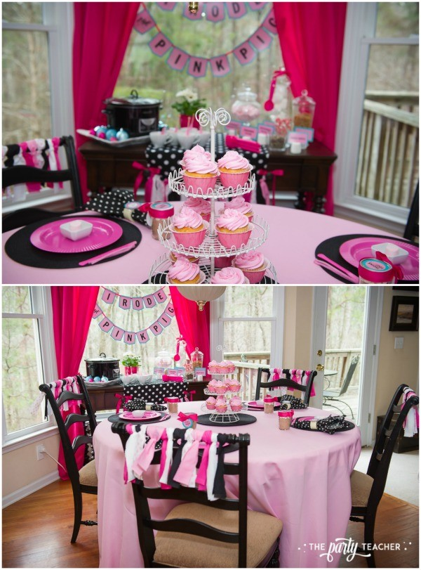 Pink Pig Hot Cocoa Party by The Party Teacher-table