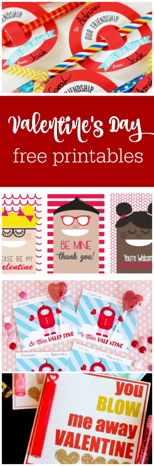 Valentine's Day free printables curated by The Party Teacher