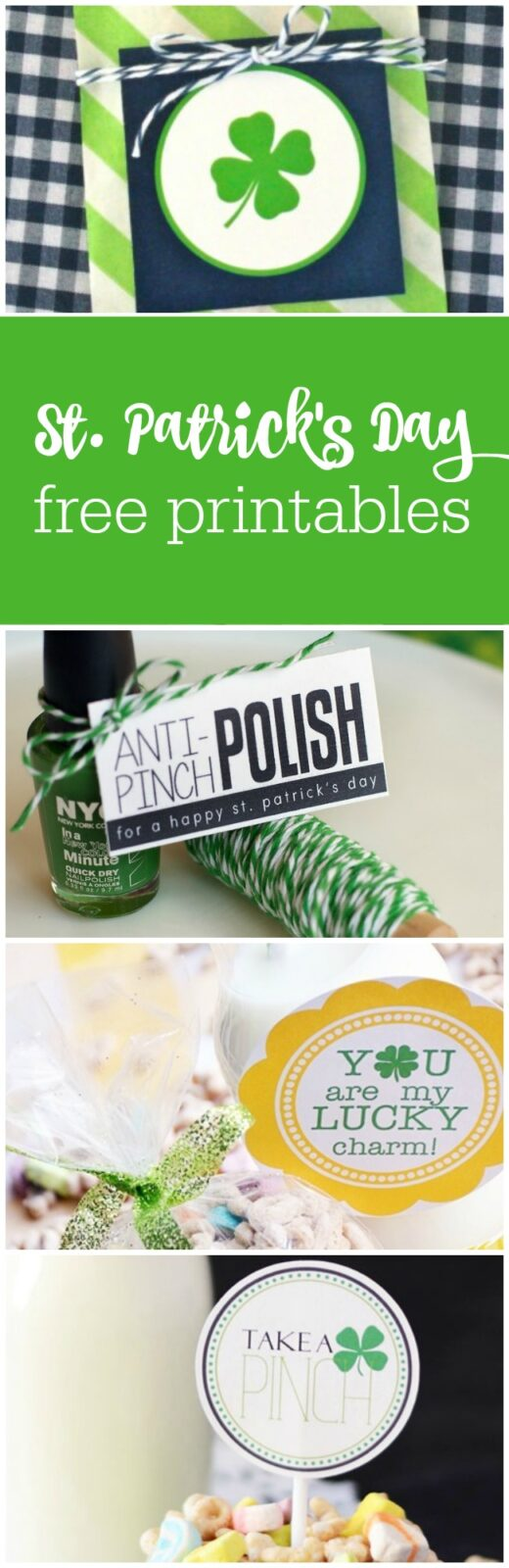 24 St. Patrick's Day free printables curated by The Party Teacher