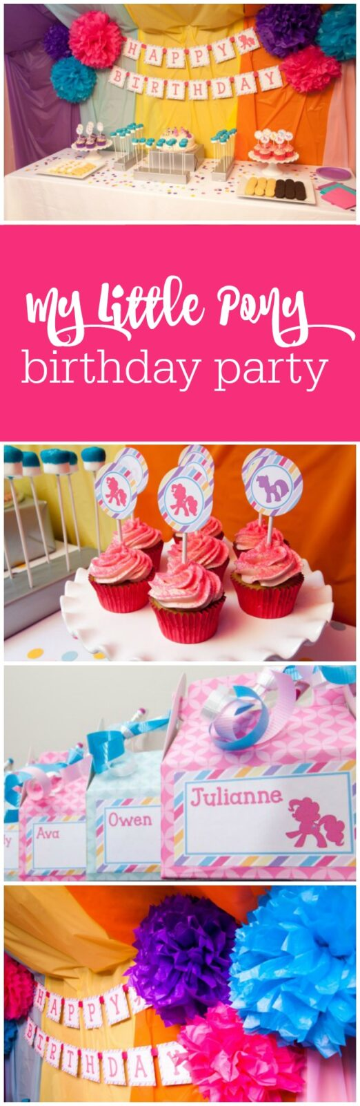 Darling My Little Pony birthday party by Tickled Peach Studio featured on The Party Teacher
