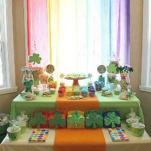 Guest Party: St. Patrick's Day Rainbow Dessert Table