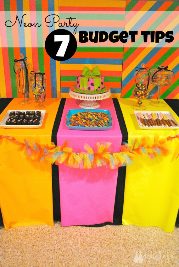Neon Party 7 Budget Tips by Double the Fun Parties