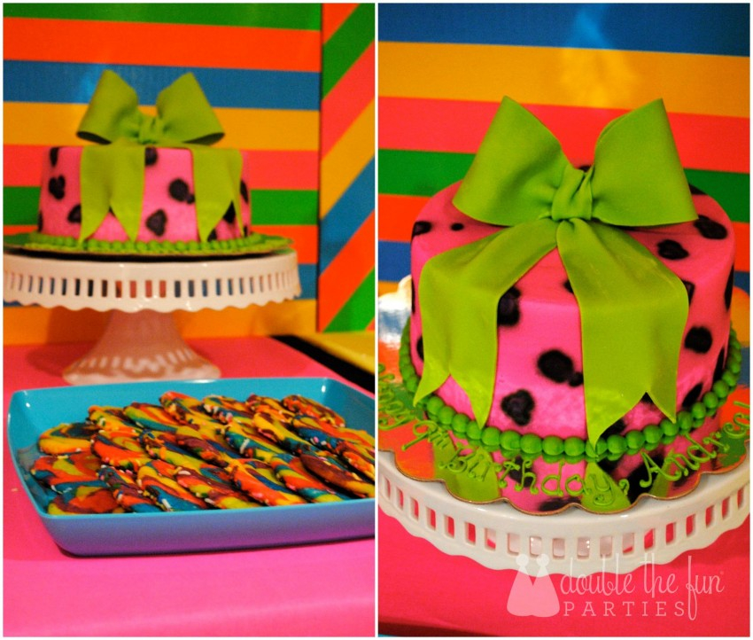 Neon Party Cake Collage