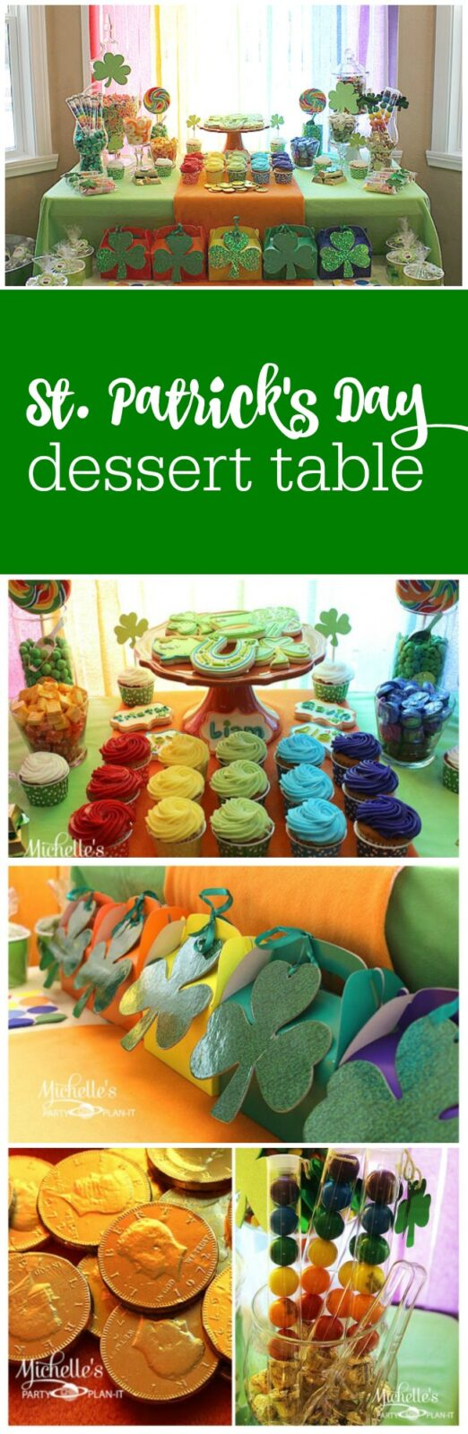 Pot of gold at the end of rainbow St. Patrick's Day Party by Michelle's Party Plan-It featured on The Party Teacher
