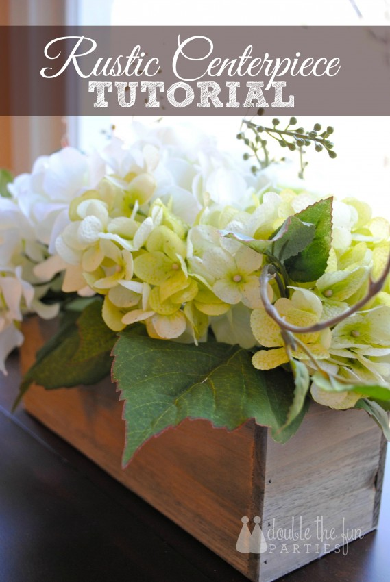 Rustic Centerpiece Tutorial by Double the Fun Parties